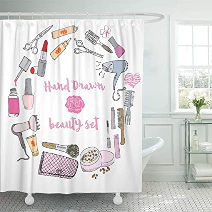 Image Unavailable Not Available For Color Emvency Shower Curtain Hand Collection Make Up