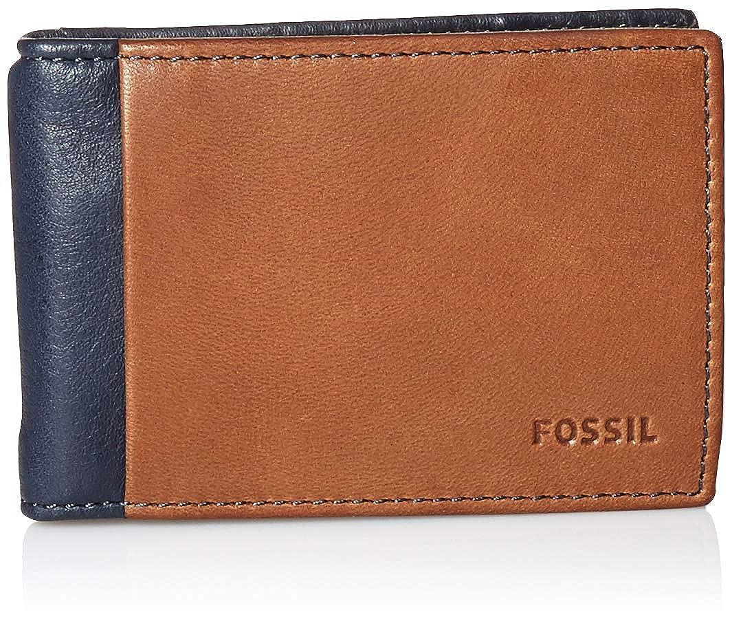 Amazon.com: Fossil - Cartera de piel para hombre con cierre ...