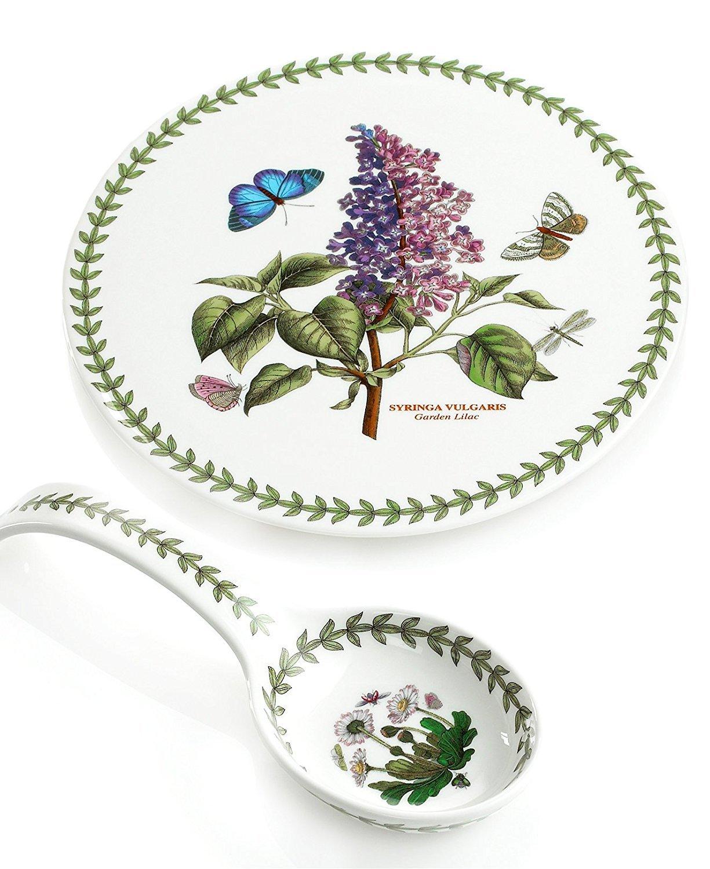 Portmeirion Dinnerware, Botanic Garden Spoon Rest and Trivet Gift Set by Portmeirion