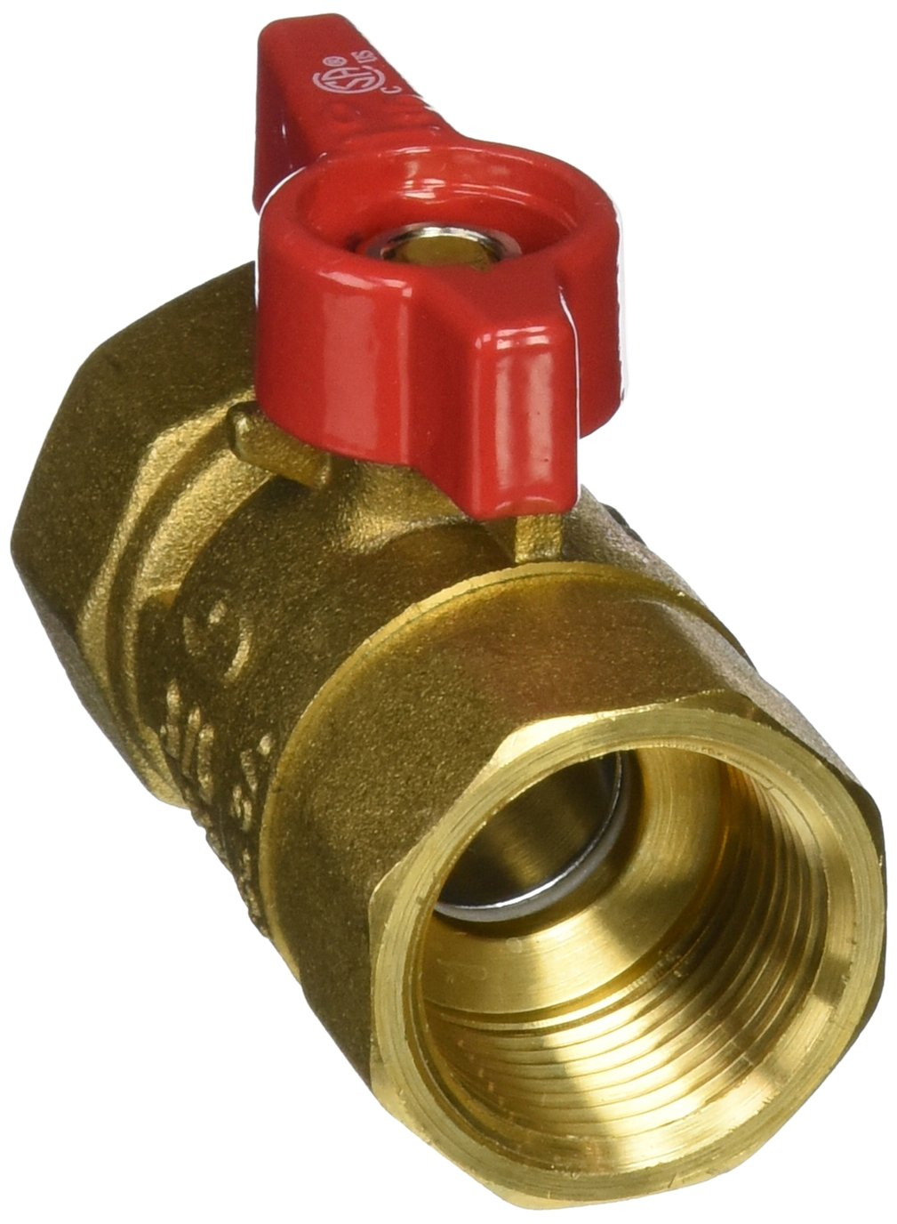 1//2-Inch FIP x 1//2-Inch FIP EZ-FLO CSA-Approved Eastman 60009 Brass Female Gas Ball Valve Connector with Quarter-Turn Lever Handle