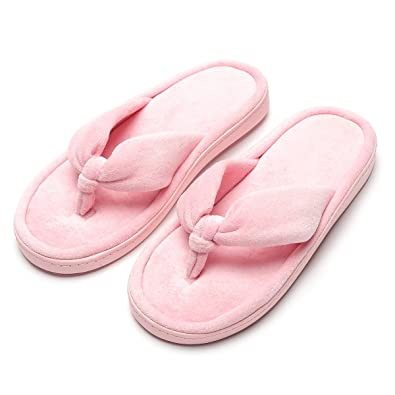 9b7c97e181f Home Slipper Comfort Knitted Cotton Cozy Memory Foam SPA Open Toes Indoors  Ultra Lightweight Soft Non
