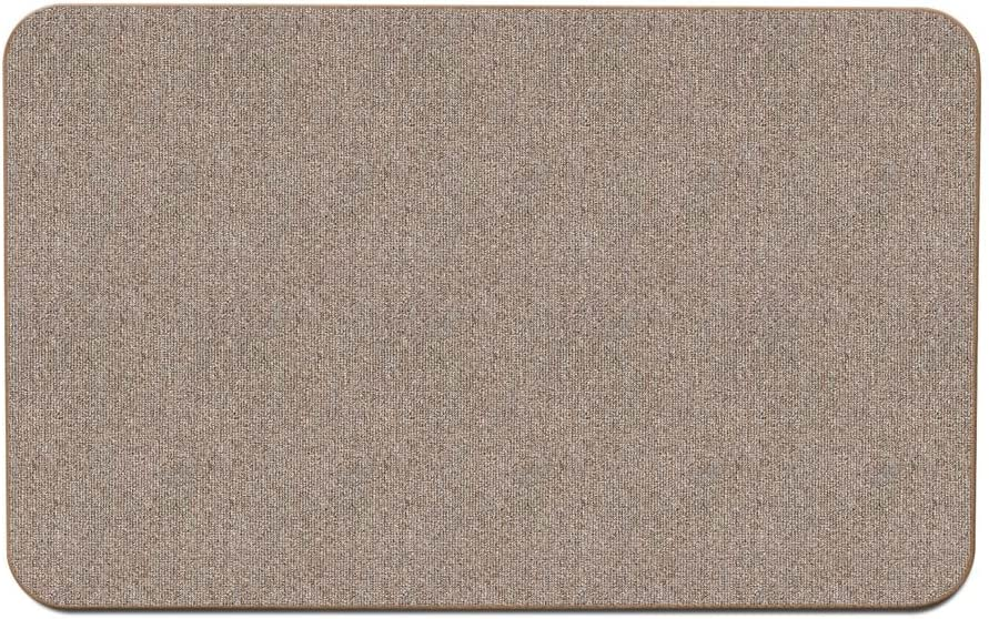 House, Home and More Skid-Resistant Carpet Indoor Area Rug Floor Mat - Pebble Beige - 3 Feet X 5 Feet