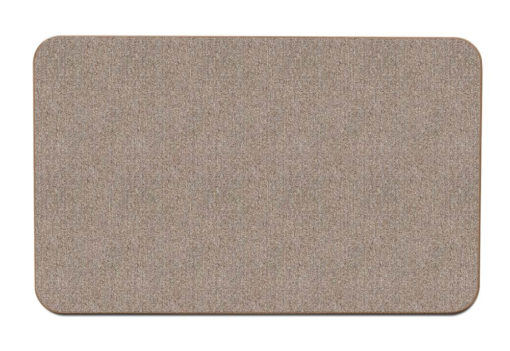 House, Home and More Skid-resistant Carpet Indoor Area Rug Floor Mat - Pebble Beige - 2' X 3' - Many Other Sizes to Choose From