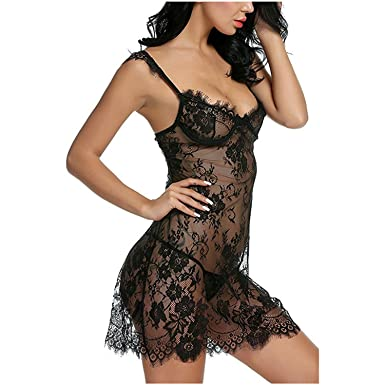 Hoared Lace Erotic Lingerie+Thongs M-Xl Sexy Babydoll Chemise Hot Sale Women Lingerie