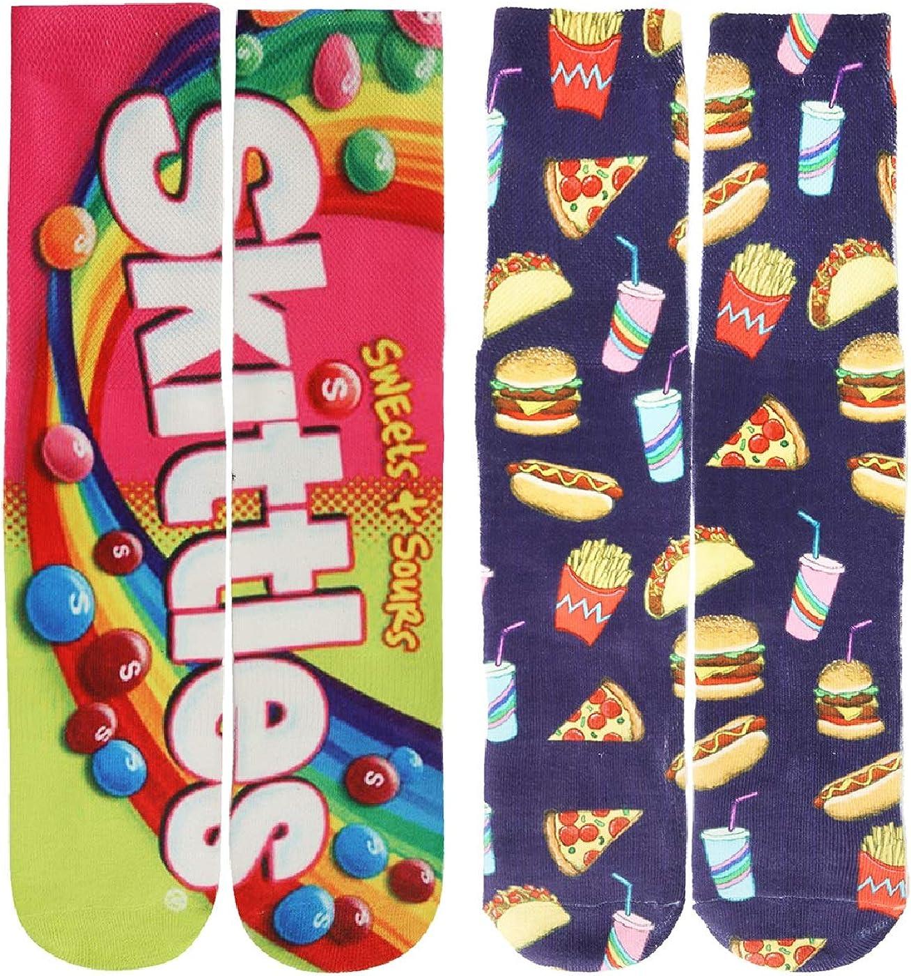 Mens Funny Crazy Socks Boys Teens Funky Colorful 3D Print Pattern Novelty Basketball Tube Socks 2 Pairs