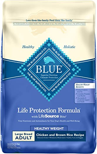 Blue Buffalo Life Protection Formula Natural Adult Large Breed Healthy Weight Chicken and Brown Rice Dry Dog Food