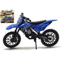 MXX Azul Motocross Moto Modelo a Escala Moto