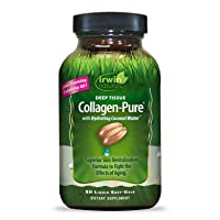 Irwin Naturals Deep Tissue Collagen-Pure with Coconut Water - Intensive Skin Nourishment - 80 Liquid Softgels