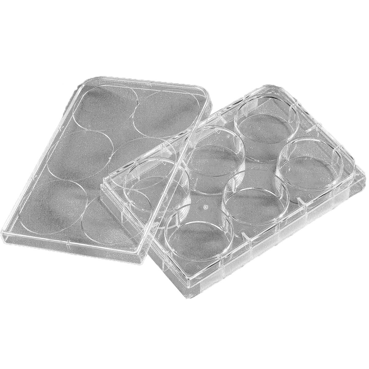 Corning Costar 3471 Polystyrene Sterile Clear Flat Bottom Ultra-Low Attachment Multiple Well Plate with 6 Wells and Lid, 16.8mL Well Volume, Individually Wrapped (Case of 24)