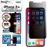 ASDEC アスデック iPhone 11 Pro/iPhone XS/iPhone X 兼用 【カメラ保護フィルム付き】 のぞき見防止フィルム ・360° 上下左右 4方向・映り込み防止 反射防止・指紋防止 防指紋・キズ防止・極薄0.3mm オールラウンド・プライバシーフィルター2 ・日本製 RP-IPN14 (iPhone11Pro, XS, X/覗き見防止)