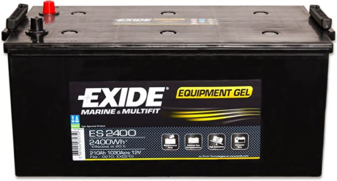 Exide Gel Es2400 G210 12 V 210 Ah Versorgungsbatterie Inkl Batterietester Boot Caravan Solar Reha Solar Auto