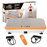 Power Fit Platform Fitness Plate - Full Body Vibration Machine - Exercise Workout Gym Trainer