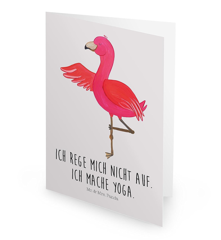 Poster DIN A0 Flamingo Yoga mit Spruch Wanddeko /& Mrs Panda Wandbild Farbe Aquarell Pink Mr