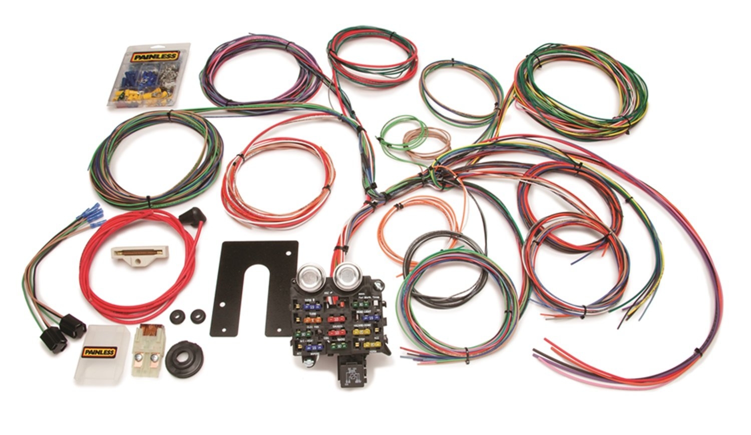71y4s8BuPyL._SL1500_ amazon com painless wire 10105 wiring harness with firewall painless wiring harness at fashall.co