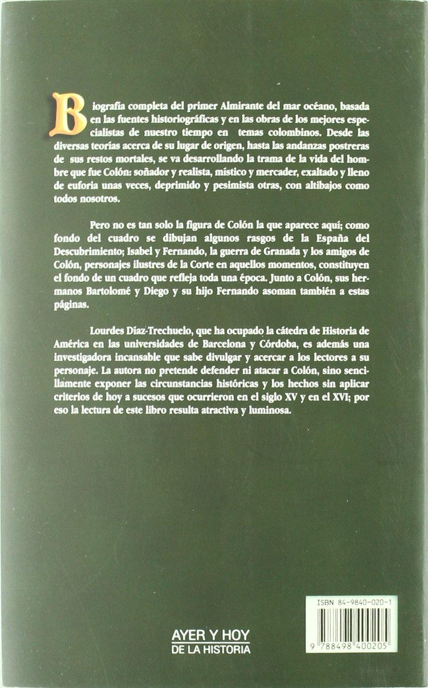Cristóbal Colón: Lourdes Díaz-Trechuelo: 9788498400205: Amazon.com ...