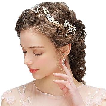 Amazon Com Wedding Bridal Tiara Crown With Screw Earrings For