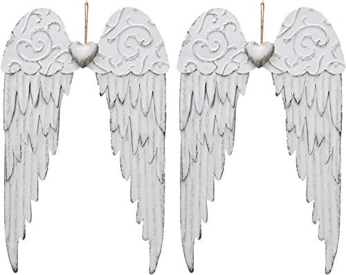 Metal Angel Wings Plaques