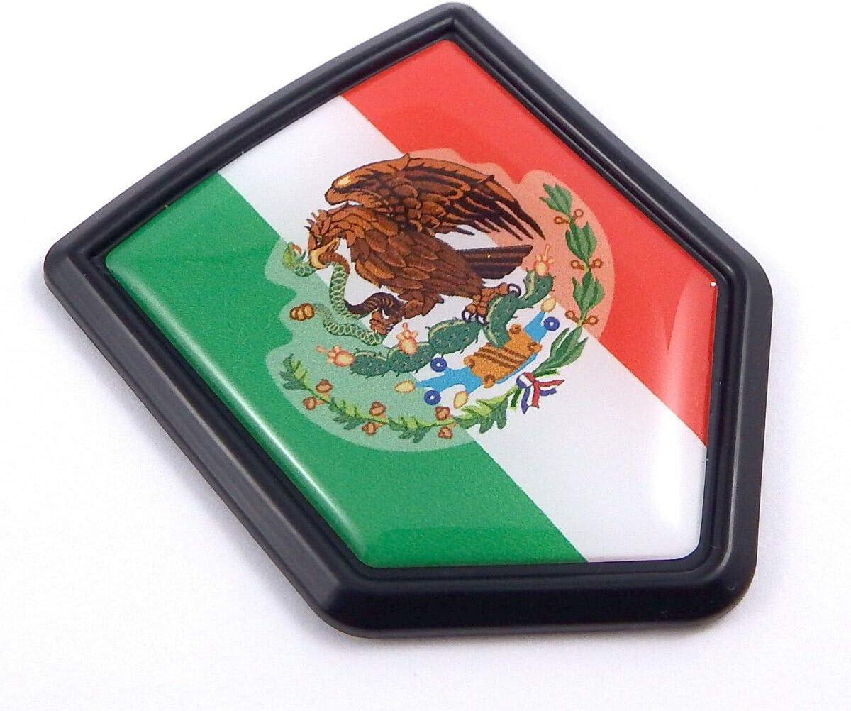 Mexico Flag Mexican Emblem Chrome Car 3D Decal Sticker Car Chrome Decals CBSHD134