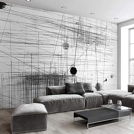 Zyzed Papier Peint Noir Blanc Rayures Lignes Art Abstrait