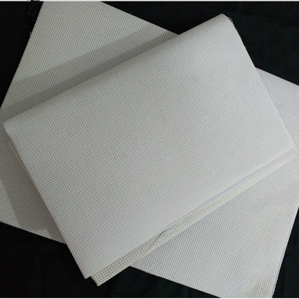Cleana Arts 4-Pack Cross Stitch Fabric Aida Cloth Standard Aida White 14 Count 17.7X 11.8, White 4336930989