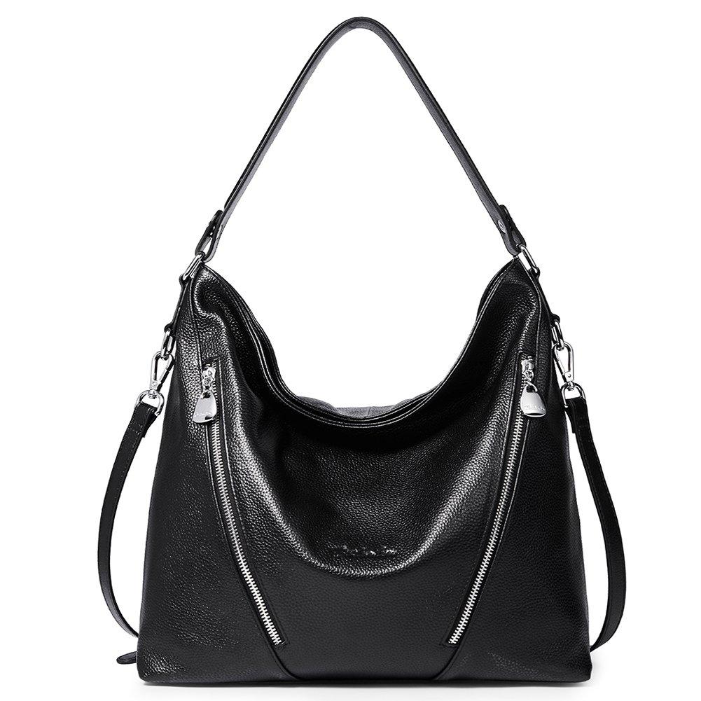BOSTANTEN Women Leather Handbag Designer Shoulder Hobo Purses Crossbody Bag