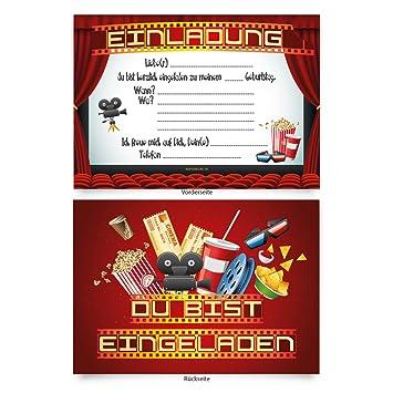 Großartig Einladungskarten (8 Stück) Zum Selbstausfüllen Für Kindergeburtstag   U201eKino  Filmu201c