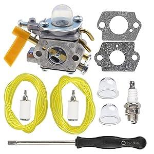 HIPA 309368001 Carburetor + Tune Up Kit for Ryobi 308054022 RY09050 RY09051 RY13015 RY13050A RY34000 RY34420 RY34440 RY64400 RY13010 RY28060 Trimmer 308054025 308054032