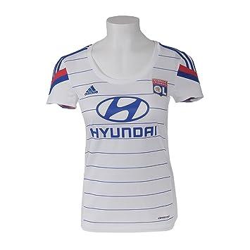 Fútbol Adidas Olympique Lyon Gr. L de la Mujer Jersey de Francia por la camiseta blanca Campeonato de Europa: Amazon.es: Deportes y aire libre