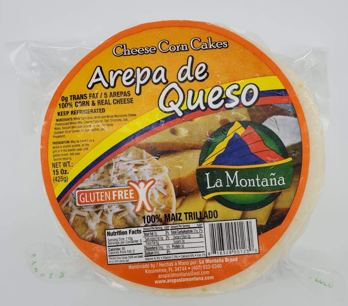 Arepas Colombianas Arepa De Queso Amazon Com Grocery Gourmet Food