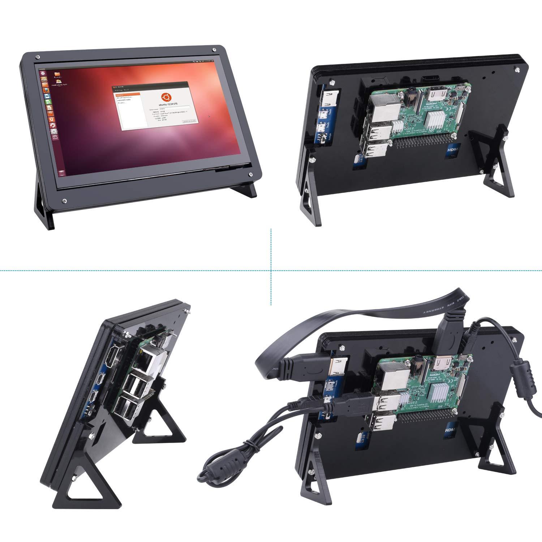 Kuman 7 inch Raspberry Pi Touch Screen Case Holder by kuman (Image #4)
