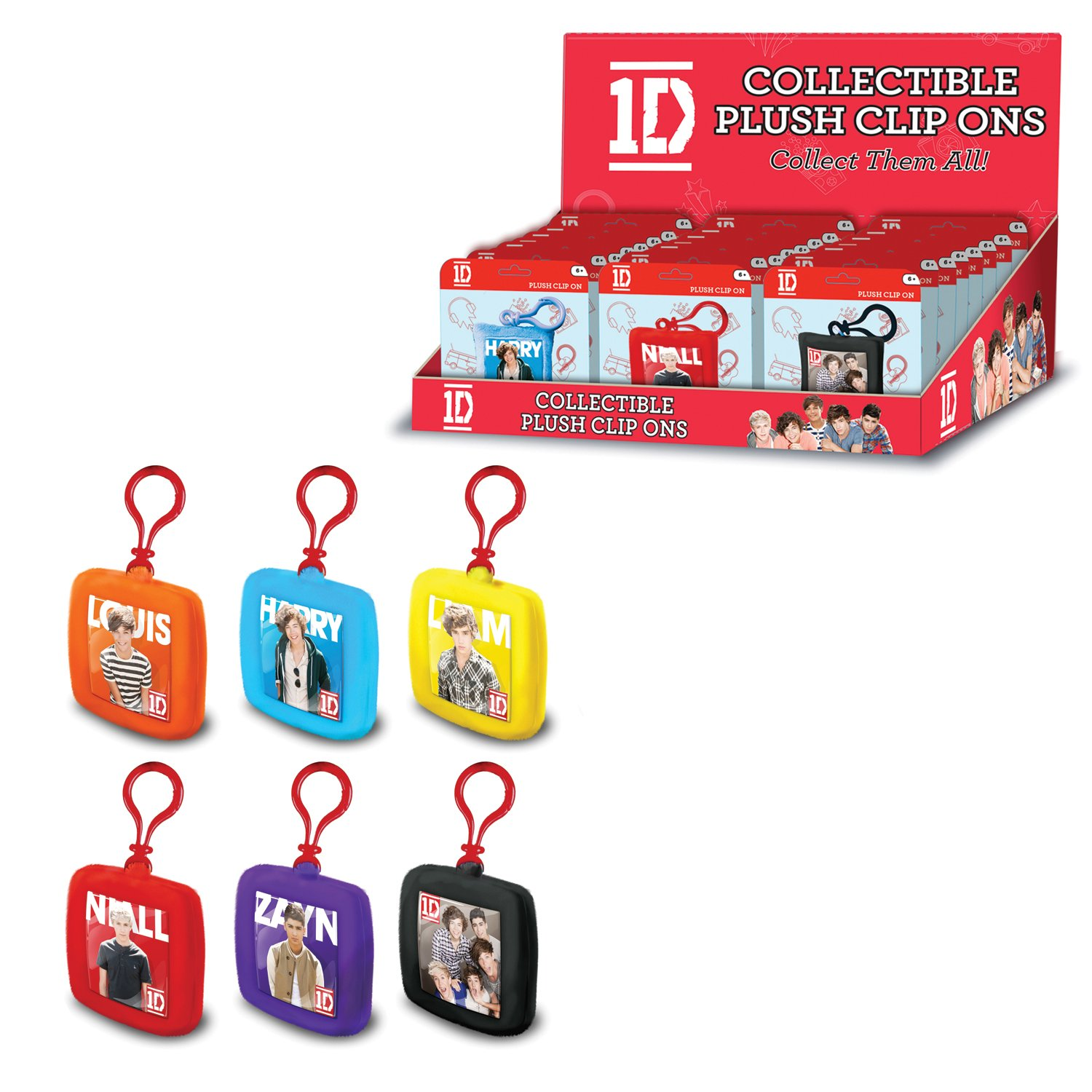 """One Direction 1D 6/"""" Teddy Bear Backpack Clip Officially Licensed I Love 1D"""