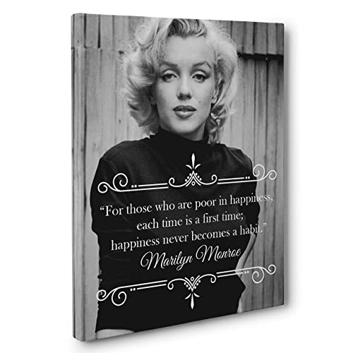 Marilyn Monroe Happiness Quote Canvas Wall Art
