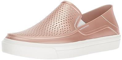 6c9a76180794 Crocs Women s Citilane Roka Metallic SLP W Sneaker Rose dust 5 ...