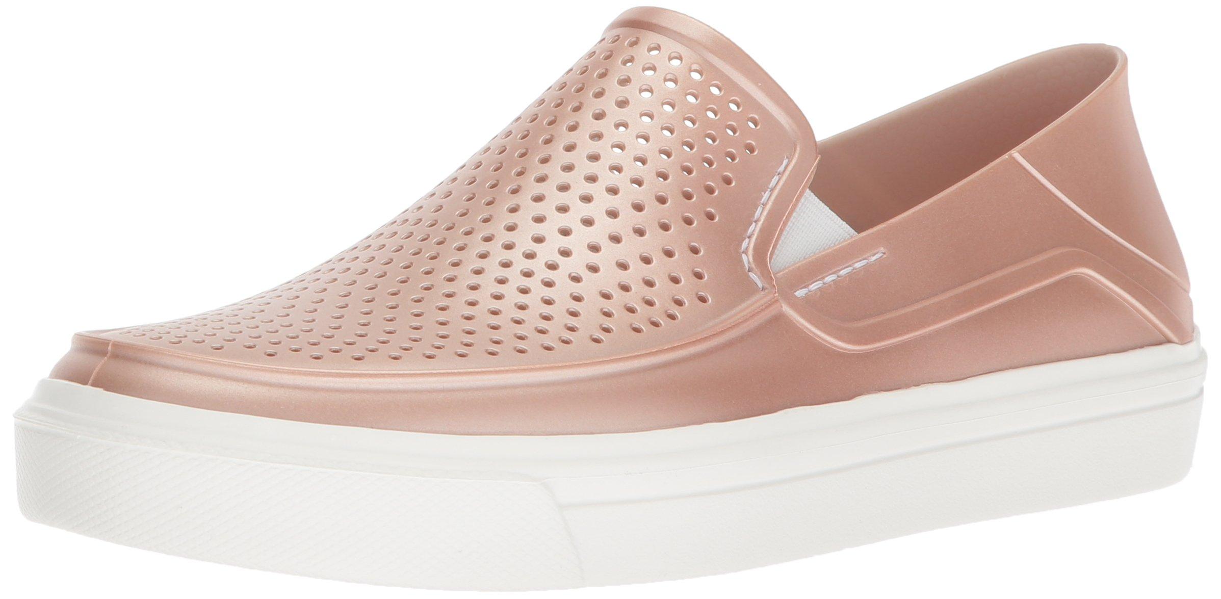 Crocs Women's Citilane Roka Metallic SLP W Sneaker, Rose Dust, 6 M US