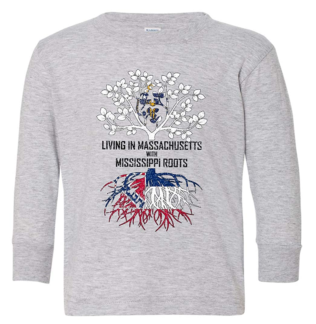 Tenacitee Babys Living in Massachusetts Mississippi Roots Shirt
