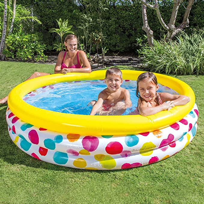 Intex 58439NP - Piscina hinchable 3 aros círculos 147 x 33 cm, 330 ...