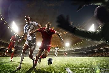 Amazon De Fussball Spieler Stadion Zweikampf Xxl Wandbild