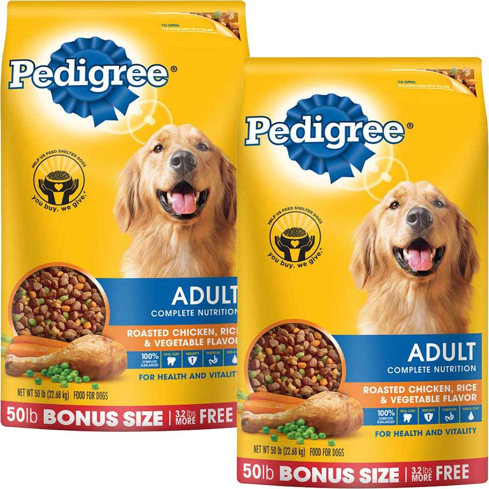 PEDIGREE Complete Nutrition Adult Dry Dog Food Bonus Bags Chicken, 50 lbs. Pack of 2