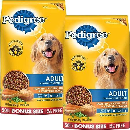 PEDIGREE Complete Nutrition Adult Dry Dog Food Bonus Bags Chicken, 50 lbs. Pack of 2