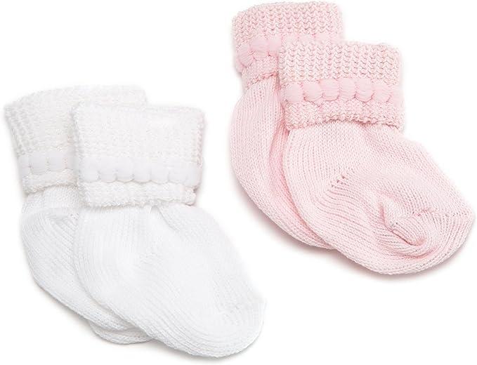 Jefferies Socks Unisex-Baby Newborn Bubble Stitch Rock-A-Bye Bootie 6 Pair Pack