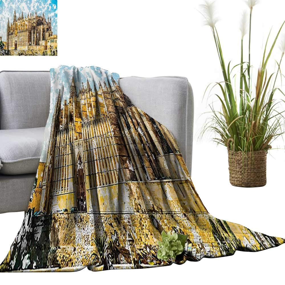 Amazon.com: YOYI Warm Blanket eGothic Church The Sea Shore ...