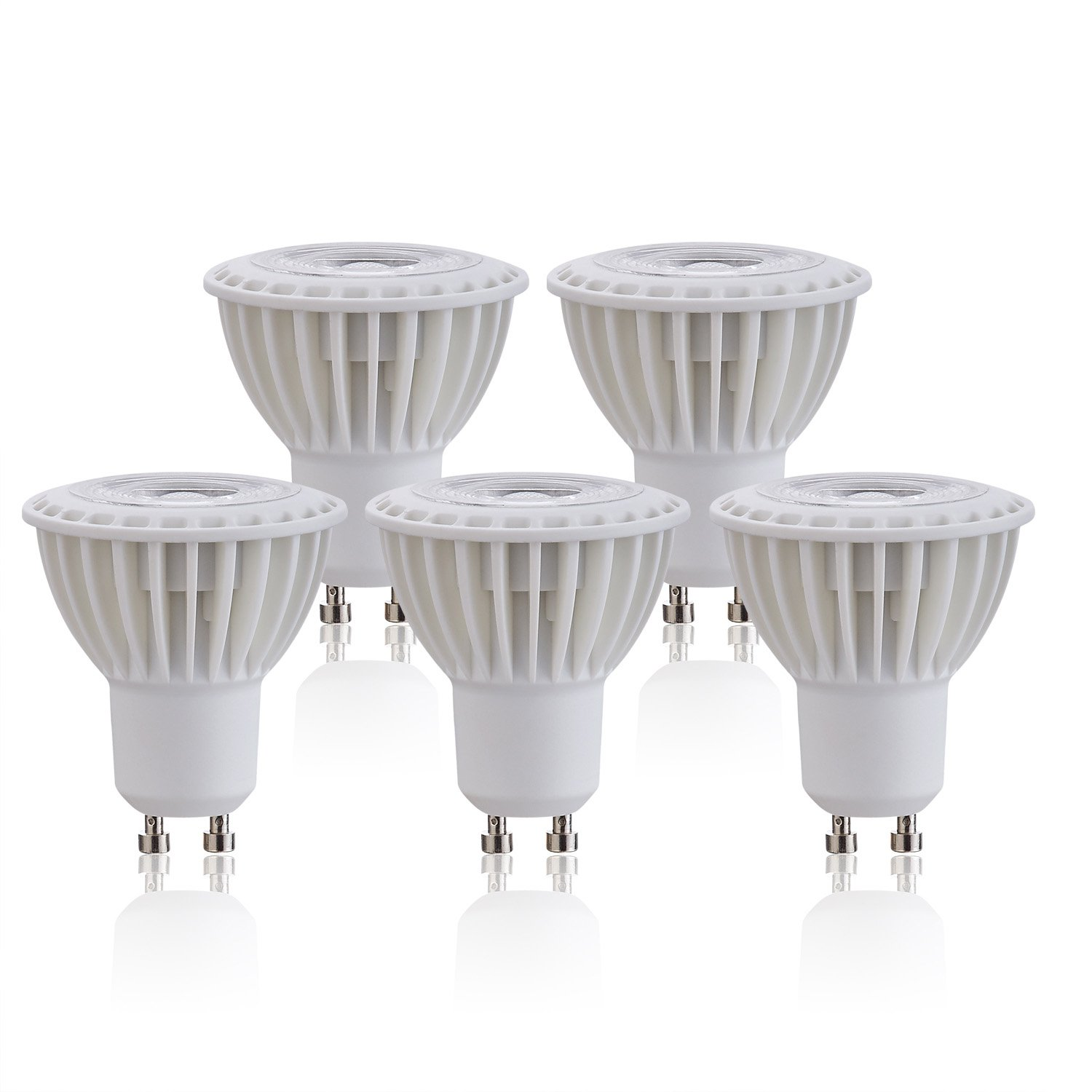 (5 Pack)Daylight White 5000K 3W Led Bulb siliconcontrolled Dimmable GU10 Base 40w Equivalent, Recessed Lighting,LED spotlight, 270lm,Led decorative Light