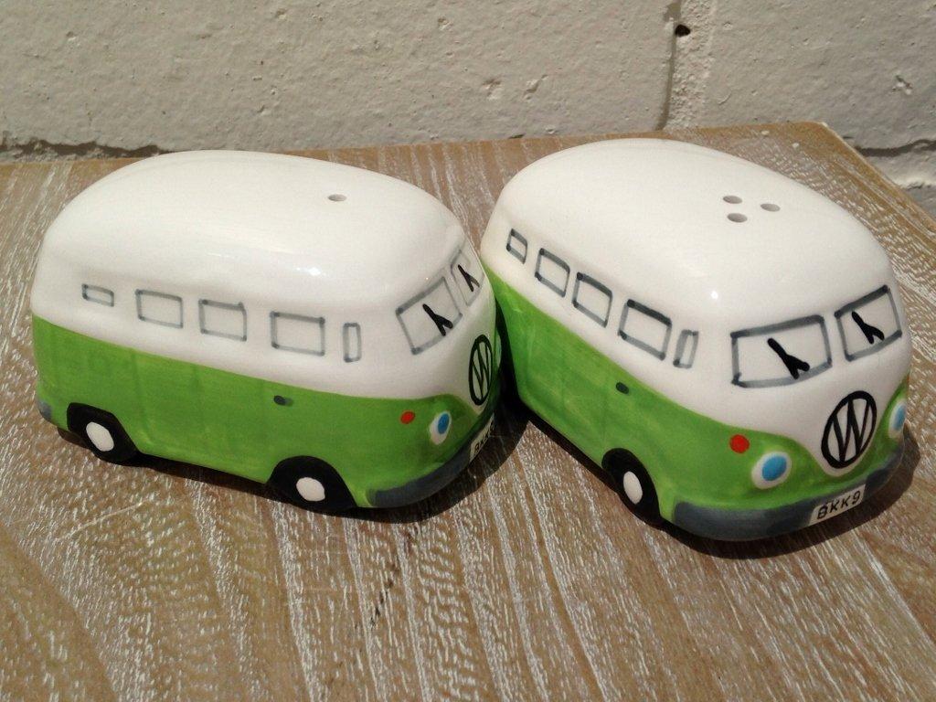 Camper Van Salt and Pepper Pots - Green (MLSP-VWV-LG)