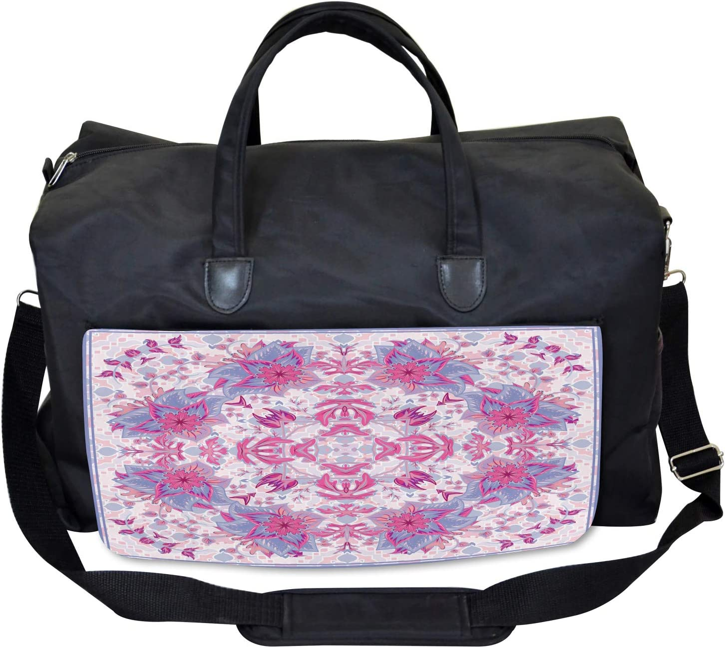 Ambesonne Persian Gym Bag Boho Ethnic Floral Large Weekender Carry-on