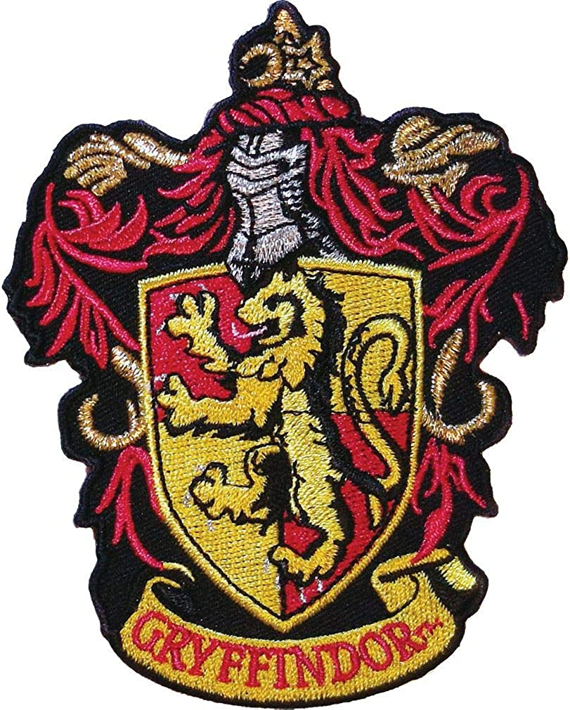 "Ata-Boy Harry Potter Gryffindor Crest 3"" Full Color Embroidery Iron-On Patch"