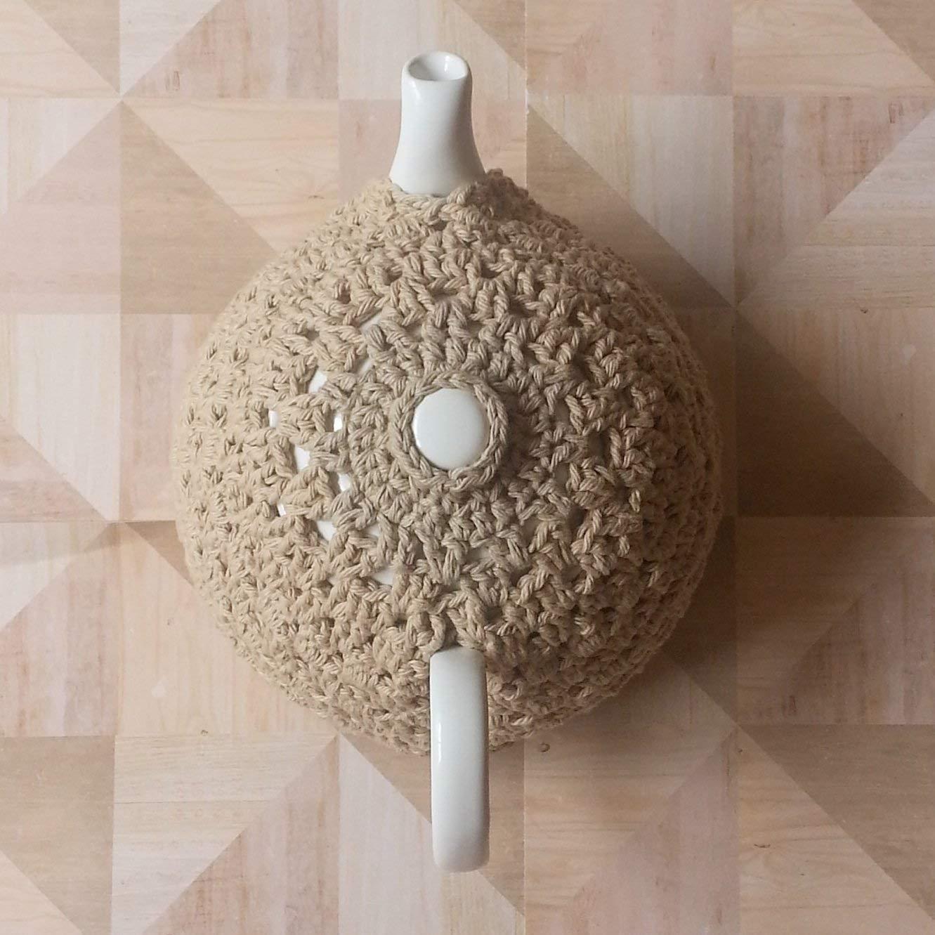 Teapot Cozy Cotton Cover Beige
