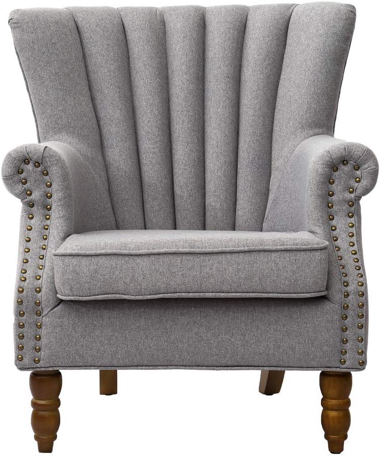 Warmiehomy Armchair in Grey Fabric