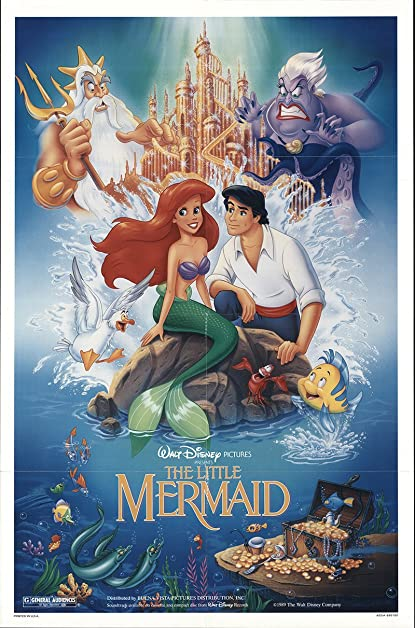 the little mermaid 1989 authentic 27 x 41 original movie poster