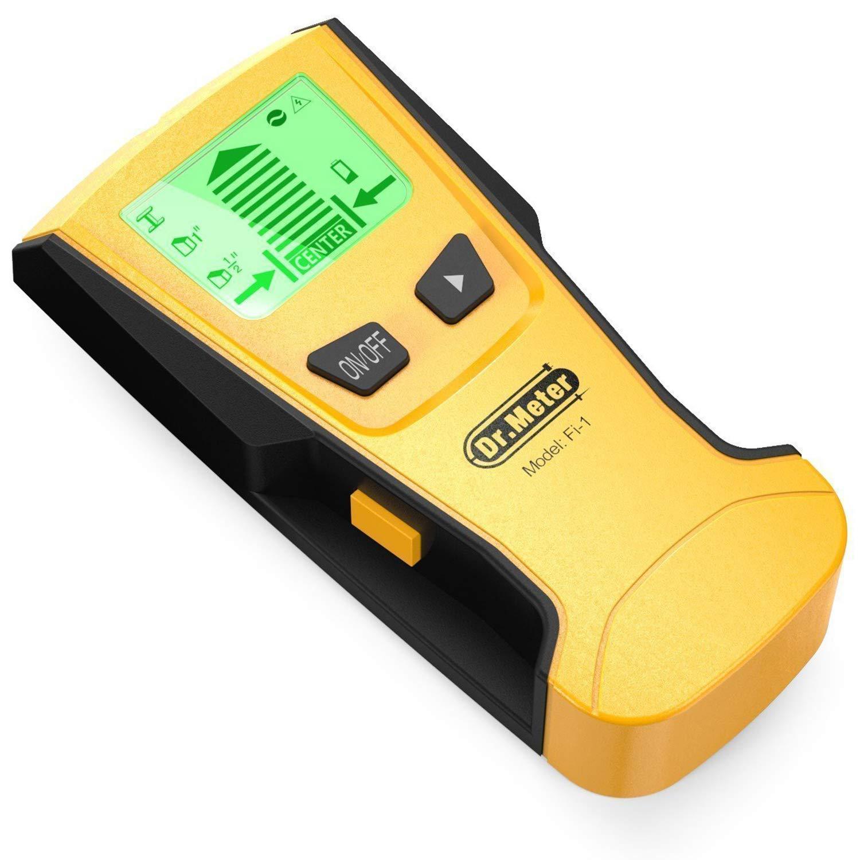 [Multi-Scanner Stud Finder] Dr.meter Stud Wall Sensor Finder Center-Finding with Live AC Wire Wood Scanner Warning Detection, Battery Included