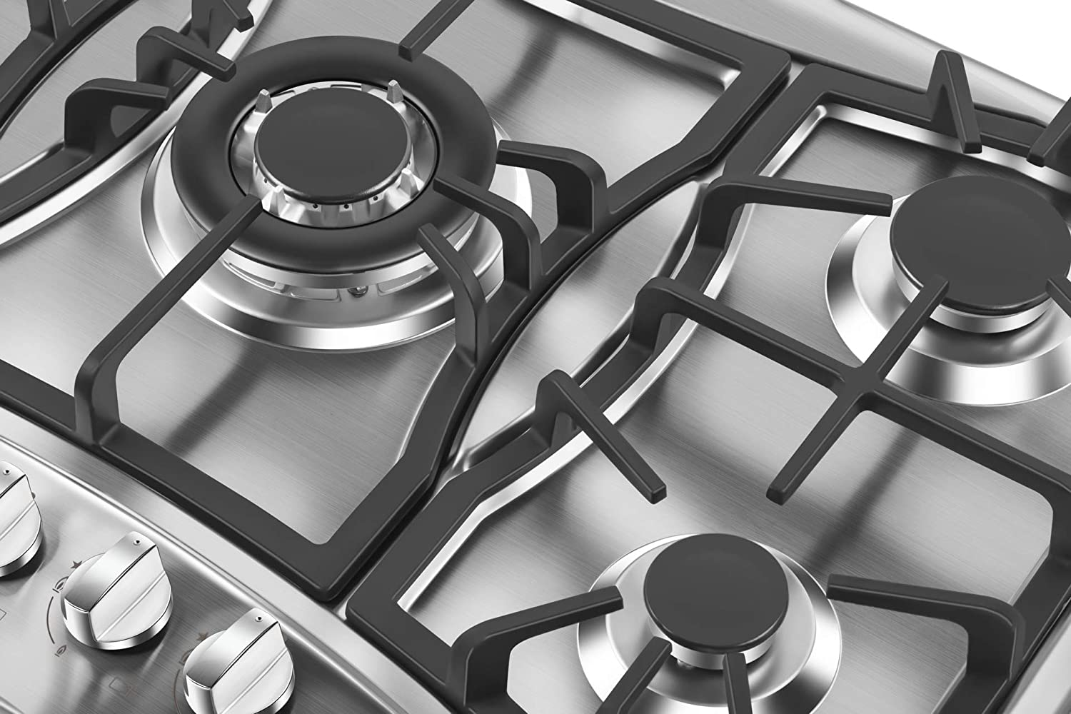 Empava 36 in Gas Cooktop with 5 Italy Sabaf Sealed Burners NG//LPG Convertible Stove in Stainless Steel EMPV-36GS5B90S